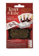 Tempt And Tease Couples Card Game
